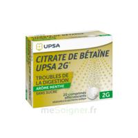 Citrate De Bétaïne Upsa 2 G Comprimés Effervescents Sans Sucre Menthe édulcoré à La Saccharine Sodique T/20 à Paris