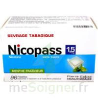 Nicopass 1,5 Mg Pastille Sans Sucre Menthe Fraîcheur Plq/96 à Paris